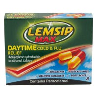 Lemsip Cold and Flu Capsules 8 Pack