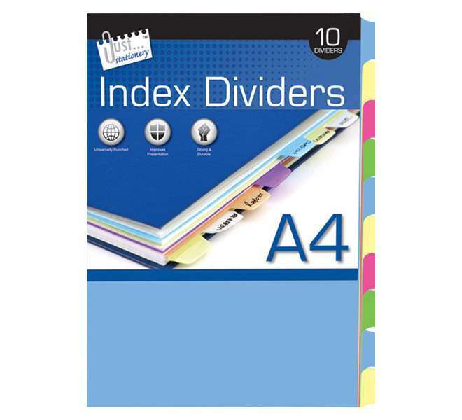 10 A4 Index Dividers - Paper