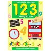 123 Preschool Learn To Count Sticker Activity Book