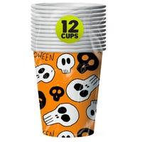 Halloween Paper Cups Orange 12 Pack