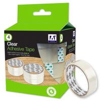 Clear Adhesive Tape 4 Pack