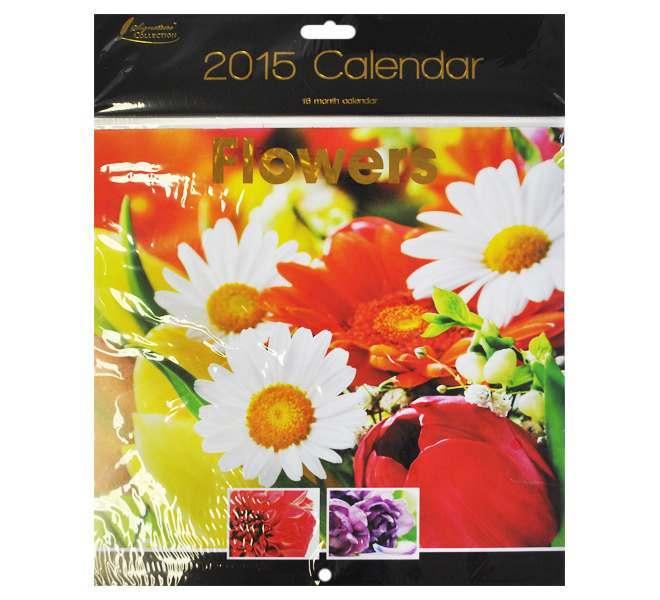 2015 Square Calendar - Flowers