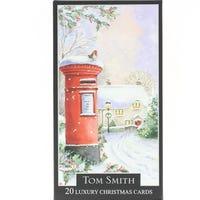 Tom Smith Luxury Slim Post Box Christmas Cards 20 Pack