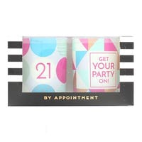 21 and Get Your Party On 2 Pack Candles 150g