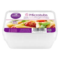 * Microwave Containers 6 Pack 650ml