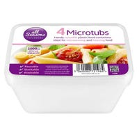 * Microwave Containers 4 Pack