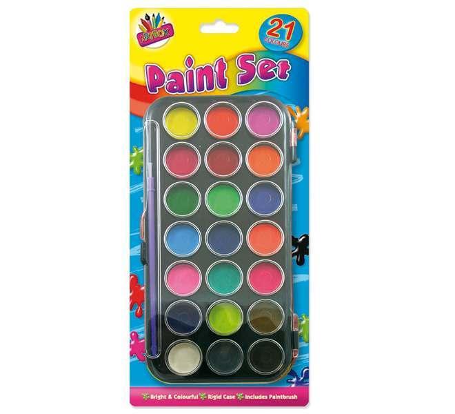 21 Colour Paint Box
