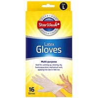 Latex Gloves 16 Pack Large