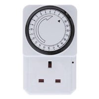 24 Hour Large Plug-In Timer Socket