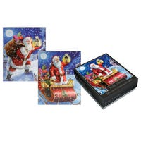 Tom Smith Traditional Santa Christmas Cards 24 Pack
