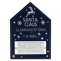 Yuletide Santa Claus Is Coming To Town Blue Plaque