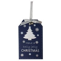 Yuletide Christmas Hanging Tags in Have A Holly Jolly Christmas Plaque