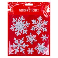 3D Christmas Window Stickers in Snowflakes