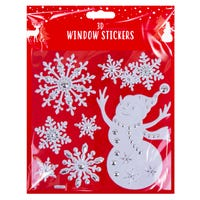 3D Christmas Window Stickers in Snowman