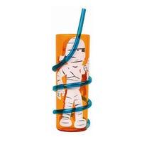 Halloween Spiral Straw Tumbler Mummy