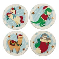 Festive Friends Set of 4 Christmas Coasters