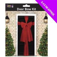 Red Organza Door Bow Kit