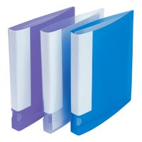 A4 Ring Binders in Assorted Colours 10 Pack