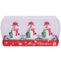 Wax Candle 3 Pack Snowman