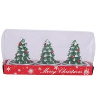 Wax Candle Christmas Tree 3 Pack