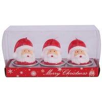 Wax Candle Santa 3 Pack