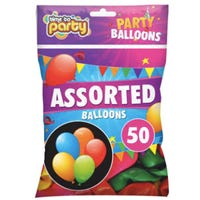 Party Balloons Assorted 50 Pack