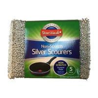 * Silver Scourer Non Scratch 5 Pack