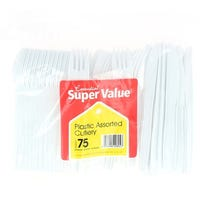 Super Value Assorted Cutlery 75 Pack
