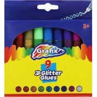 3D Glitter Glue 9 Pack
