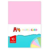 A4 Pastel Colour Card 10 Sheets