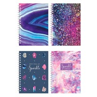 Fashion Stationary A5 Lined Notebook in Assorted Designs