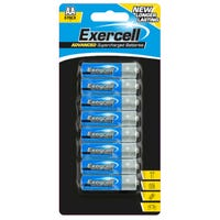 Exercell AA Supercharged Batteries 8 Pack
