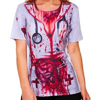 Halloween Nurses Top for Adults