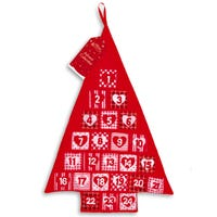 Advent Calendar with Pockets in Tree Design