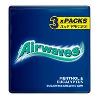 Wrigleys Airwaves Menthol and Eucalyptus 3 Pack