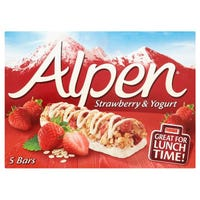 Alpen Strawberry And Yogurt Cereal Bars 5 Pack