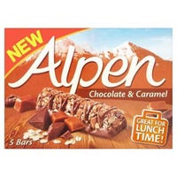 Alpen Chocolate and Caramel Cereal Bars 5 Pack