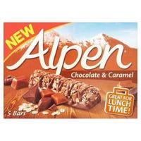 Alpen Chocolate & Caramel Cereal Bars 5 x 95g
