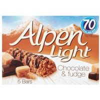 Alpen Light Chocolate and Fudge Cereal Bars 5 Pack