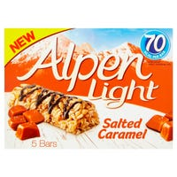 Alpen Light Salted Caramel Bars Cereal Bars 5 Pack 95g