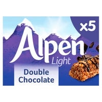 Alpen Light Double Chocolate Cereal Bars 5 Pack