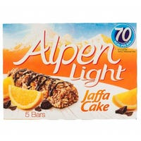 Alpen Light Jaffa Cereal Cake Bars 5 Pack 95g