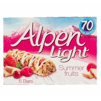 Alpen Light Summerfruits Ceral Bars 5 Pack 95g