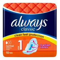 Always Classic Sanitary Towels Normal 10 Pack
