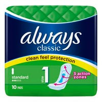Always Classic Standard Sanitary Pads 12 Pack