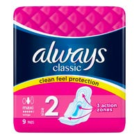 Always Classic Maxi Sanitary Pads 9 Pack