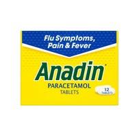 Anadin Paracetamol 12 Tablets