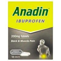 Anadin Ibuprofen Tablets 16 Pack