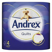 Andrex Supreme Quilts Toilet Tissue 4 Pack