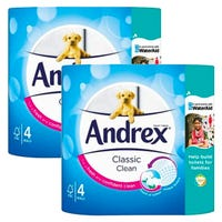 Andrex Toilet Paper Classic White 4 Pack